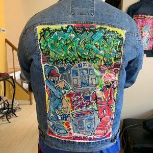 Graffiti Denim Jacket