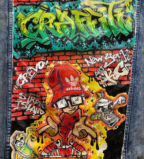 Artby-kc Denim Jacket