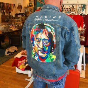 John Lennon - Imagine Hand-Painted Denim Jacket